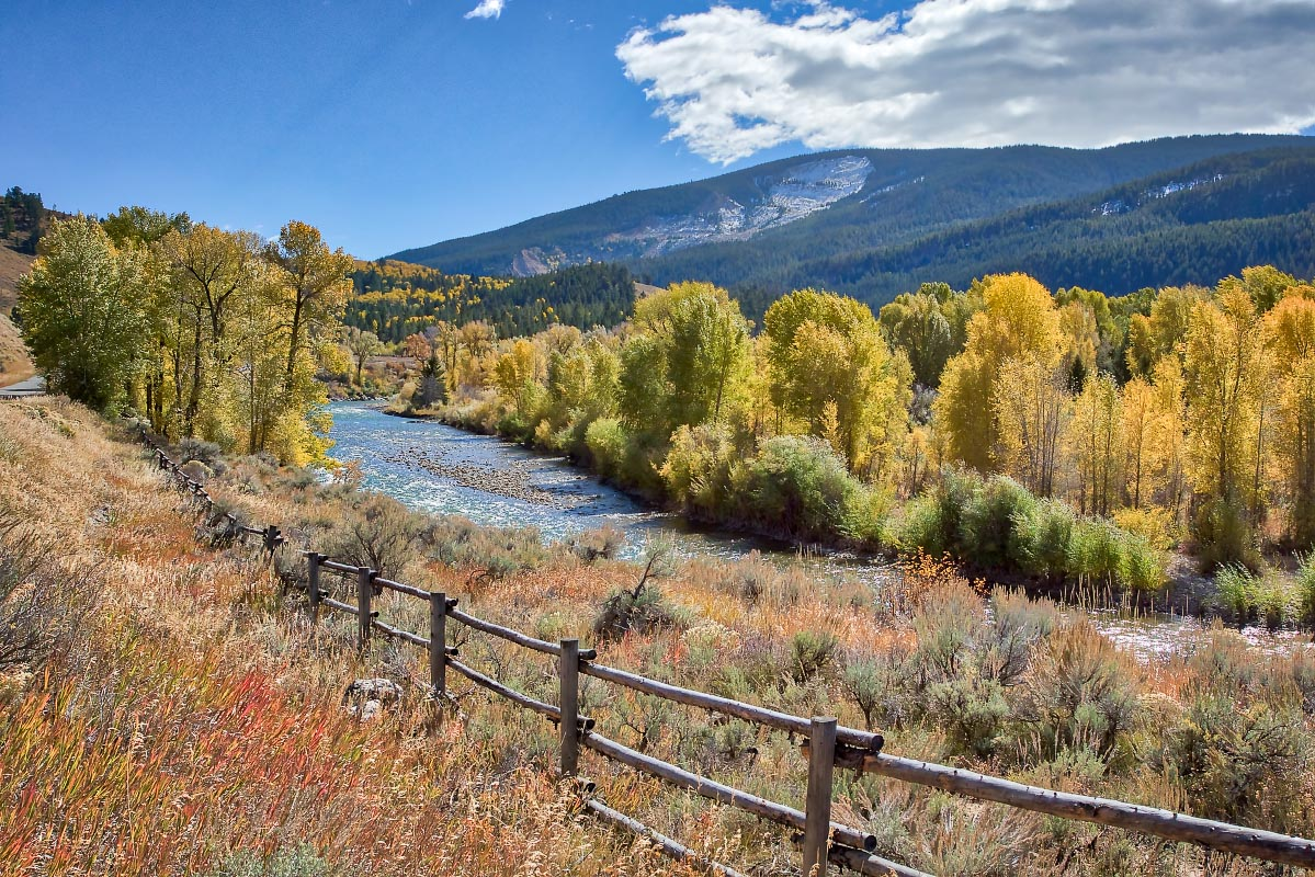 Gros Ventre River and slide area Wyoming