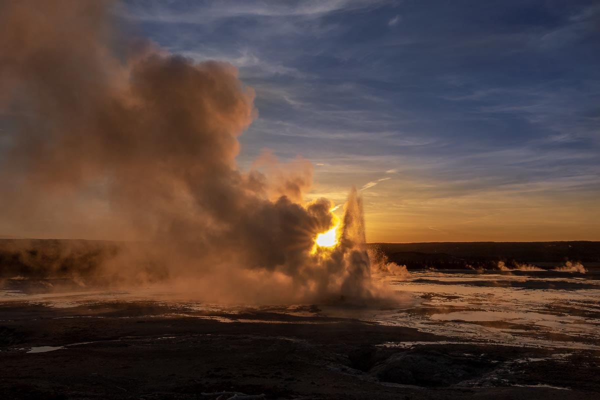 Clepsydra Geyser Yellowstone Wyoming