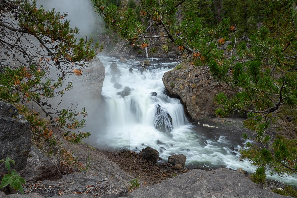 Firehole Falls Yellowstone Wyoming