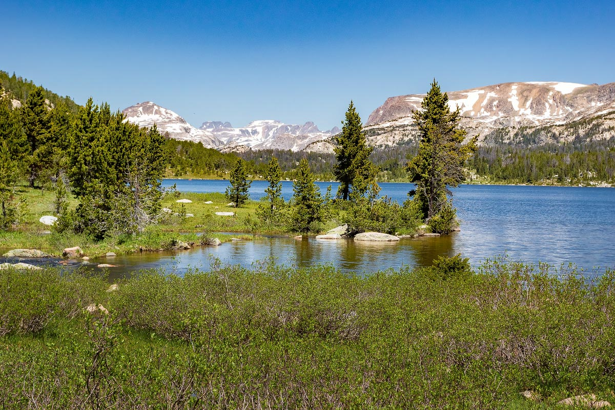 Island Lake Beartooth Mountains Wyoming