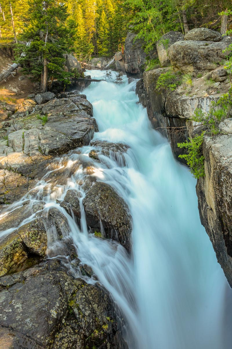Clear Creek Falls Beartooth Mountains Wyoming