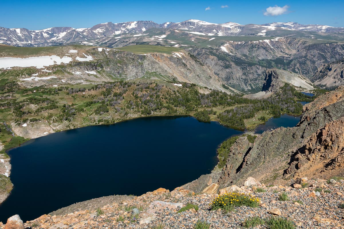 Twin Lakes Beartooth Mountains Wyoming