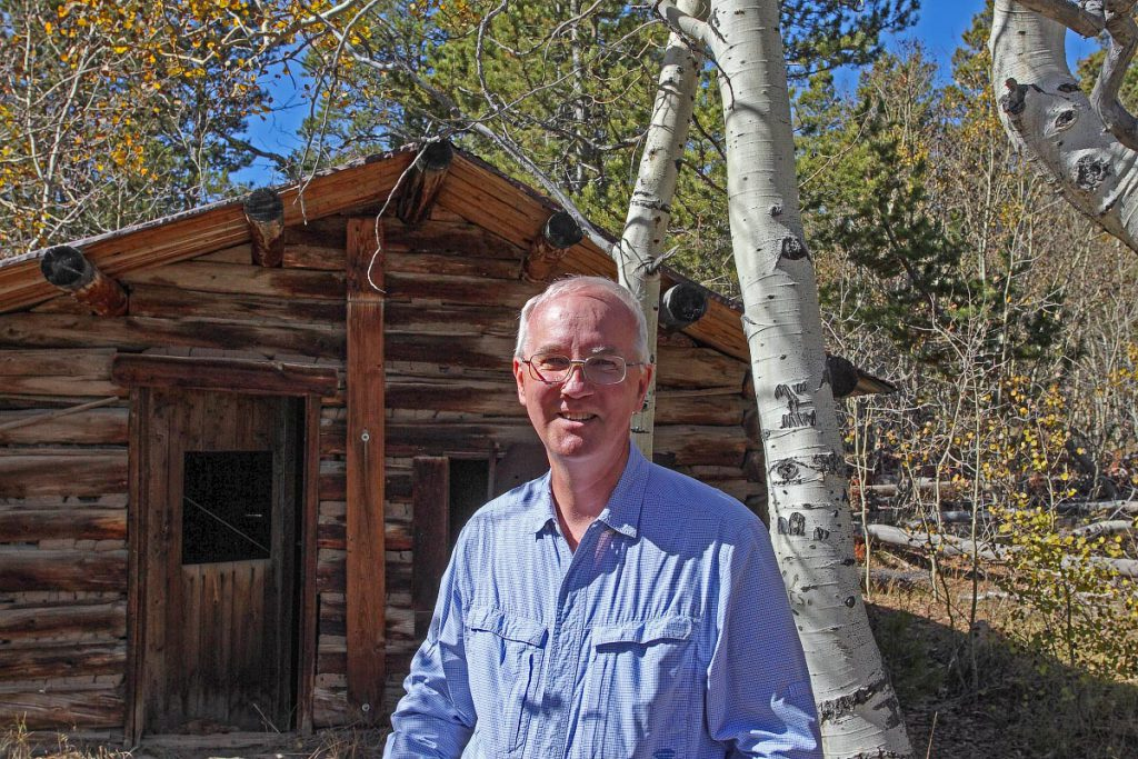Dr. Joe at Miner's Delight ghost town in Wyoming