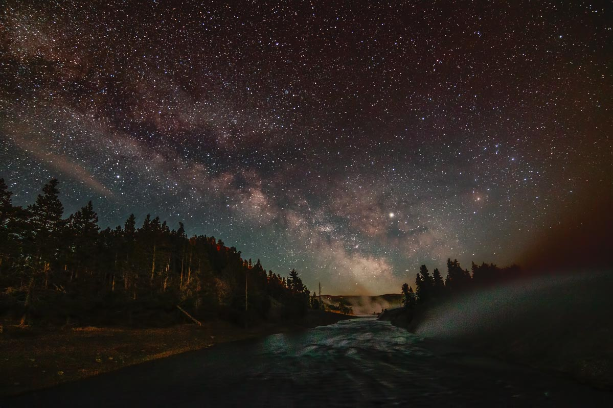 Firehole River Milky Way Yellowstone Wyoming