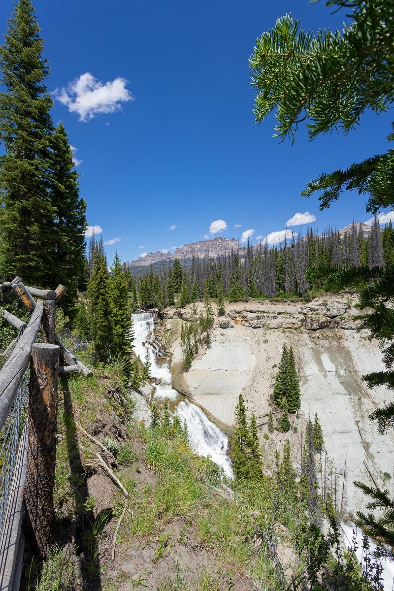 Brooks Creek Falls Pinnacles Wyoming