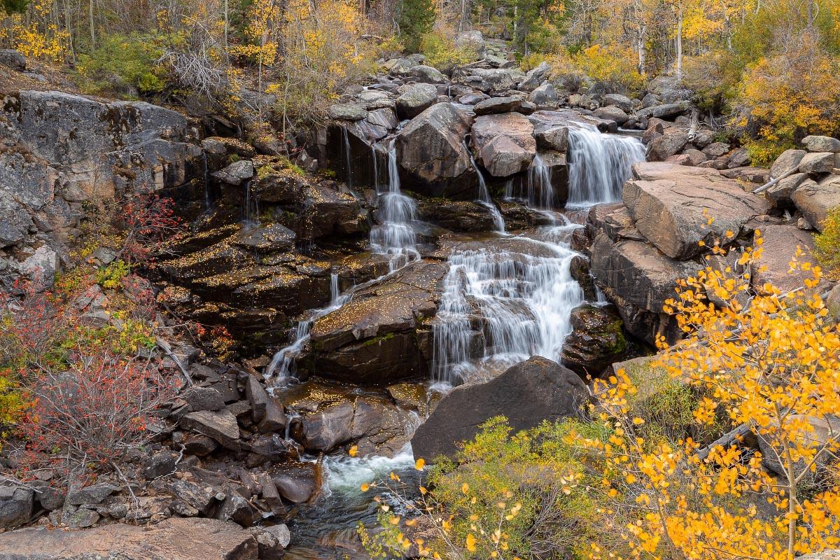 Sinks Canyon State Park Popo Agie Falls autumn Wyoming