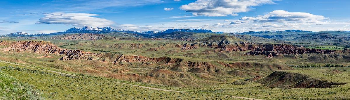 Dubois Badlands, Absaroka Mountains Wyoming